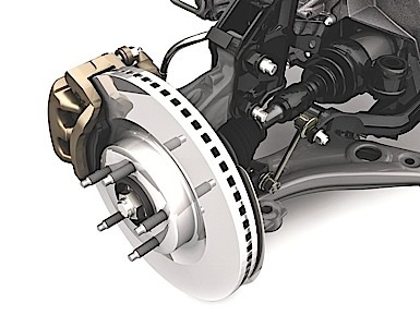 Ford Edge Cuv Large Disc Brakes With Standard Four Wheel Anti