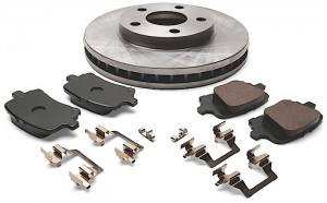 Brake pad and rotor set