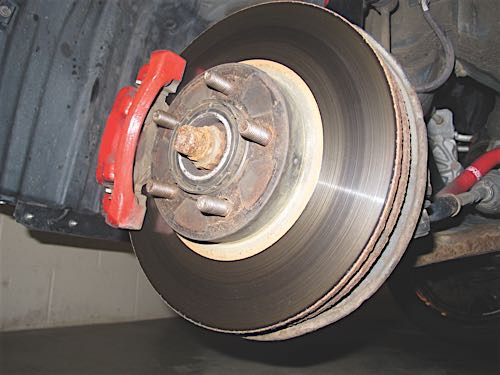 brake rotor contamination