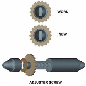 drum brake adjuster screw