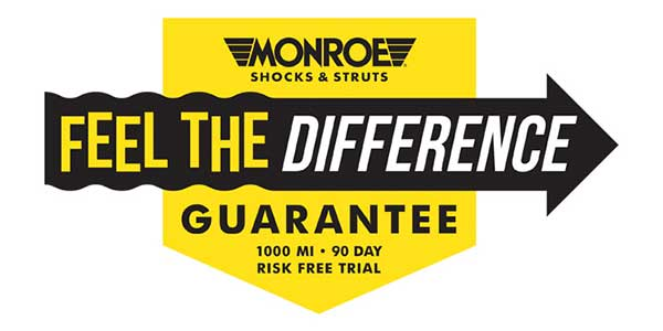 Tenneco Activates Exclusive 'Feel The Difference' Guarantee On Premium Monroe Shocks And Struts