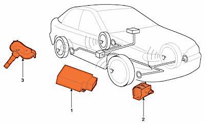 Tire Air Pressure Sensor TPMS Metal Valve For Ford Edge 2007-10 4