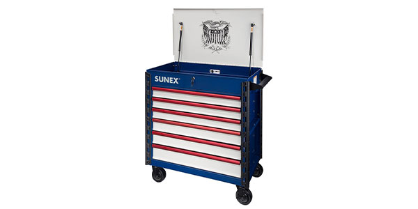 sunex tools. sunex tools is now offering the usa edition premium full-drawer service cart (sun8057xtusa1) as well company\u0027s many other and shop equipment.