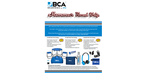 BCA Announces Summer Road Trip Promotion