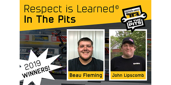 Winners Selected For The 2019 Respect Is Learned In The Pits Contest