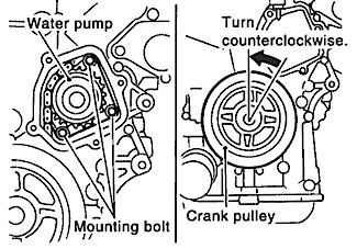 nissan vq35 series water pump chain driven water pump replacement 2012 Nissan Frontier Wiring-Diagram figure 2