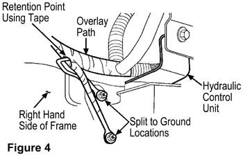 9 Route The Ground Jumper Harness Service Kit Eyelets To Studs On Hcu Bracket And Secure Grounds Figure 4