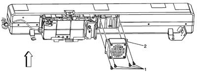 power assist servicing saturn vue hybridsa cooling fan is located in the rear of the battery pack