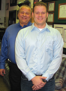 tom palermo, 2011 best tech of the year winner, along with his father joseph, owner of preferred automotive specialists.