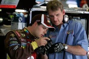 doug yates (right) was one of the top engine builders in the nascar garage before making the move to start roush yates engines and later become its ceo.